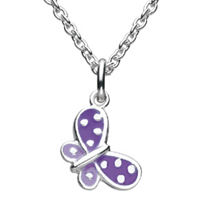 Kids Collection From Kit Heath Sterling Silver Butterfly Pendant 9923PK