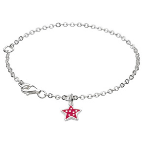 Kids Collection From Kit Heath Sterling Silver Enameled Star Bracelet 7942PK