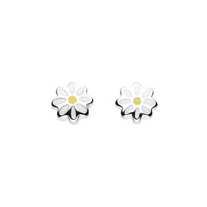 Kids Collection From Kit Heath Sterling Silver Flower Earrings 3930YE