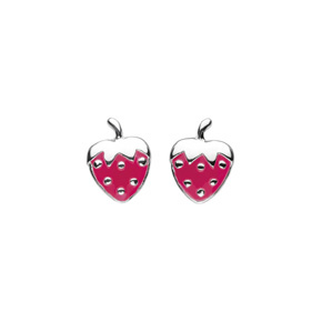 Kids Collection From Kit Heath Sterling Silver Strawberry Earrings 3939PK
