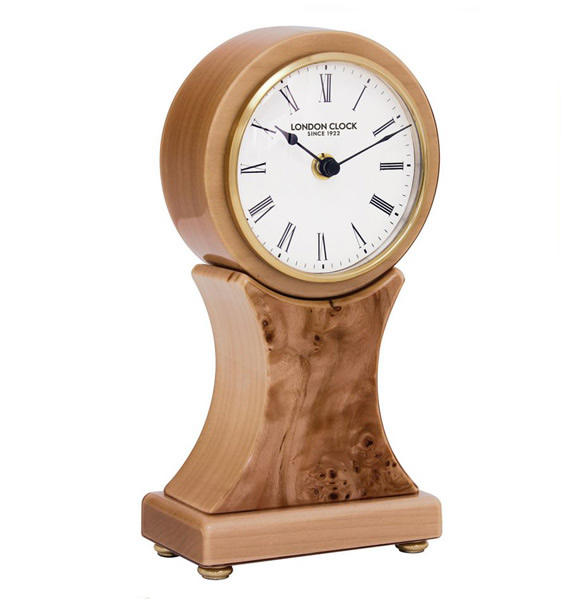 London Clock Company Walnut Wooden Mantle Clock 06394