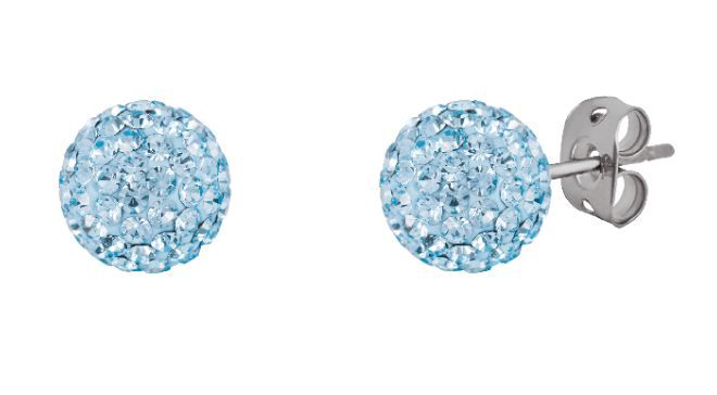 Tresor Paris 10mm Light Blue Large BonBon Stud Earrings
