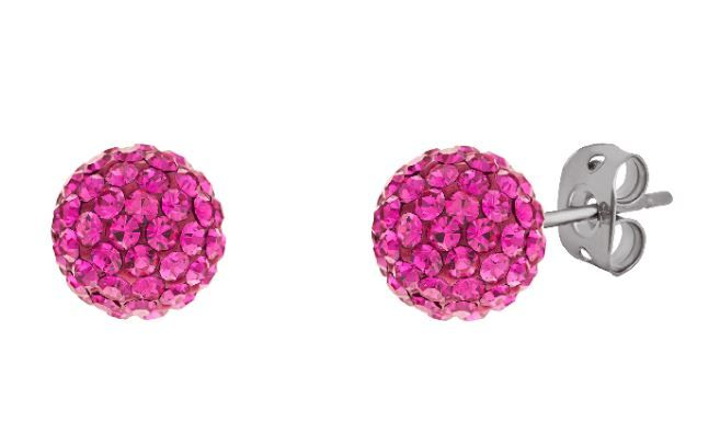 Tresor Paris 10mm Pink Large BonBon Stud Earrings