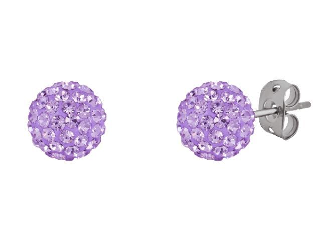 Tresor Paris 8mm Lilac Medium BonBon Stud Earrings