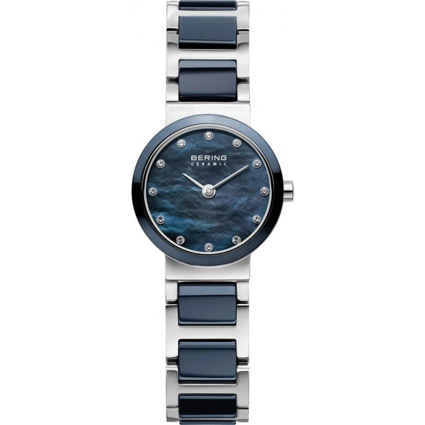 Bering Ladies Blue Ceramic Bracelet Watch 10729-787