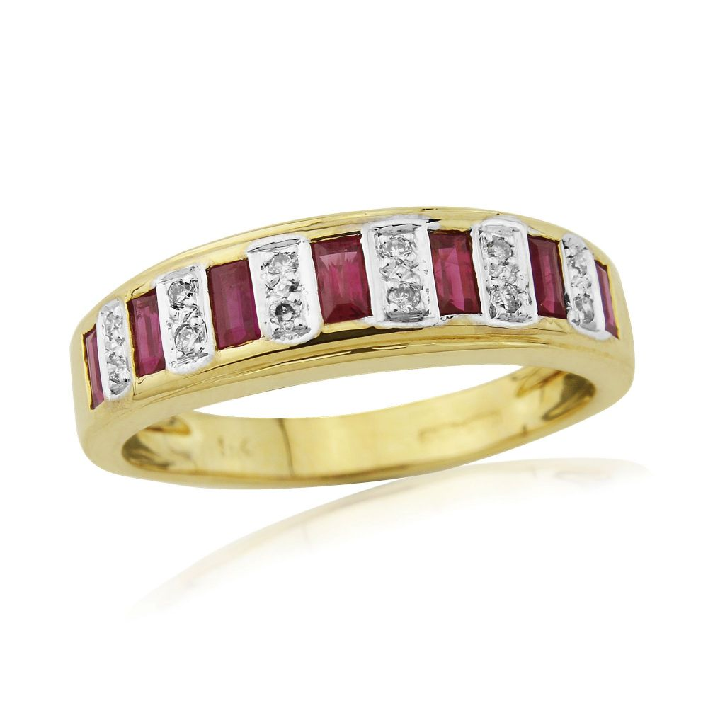 ruby and diamond yellow gold eternity ring. Black Bedroom Furniture Sets. Home Design Ideas