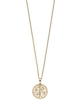 Tree Of Life Yellow Gold Necklace